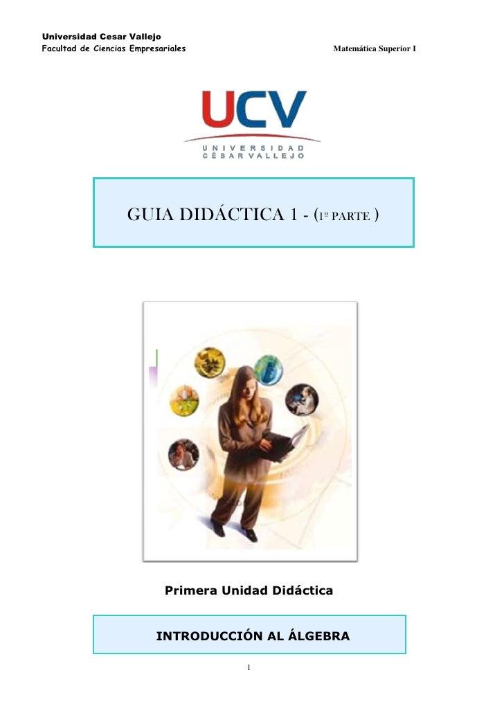 2057400125730<br />  <br />               <br />GUIA DIDÁCTICA 1 - (1º PARTE )<br /> <br />Primera Unidad Didáctica<br /> ...