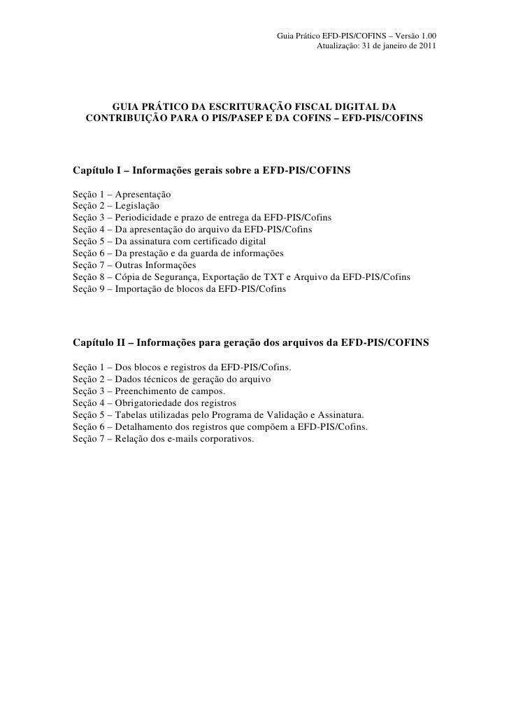 Guia Prático EFD PIS COFINS