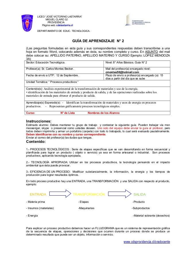 """LICEO """"JOSÉ VICTORINO LASTARRIA"""" MIGUEL CLARO 32 PROVIDENCIA Página web: cdslastarria.cl DEPARTAMENTO DE EDUC. TECNOLOGICA..."""