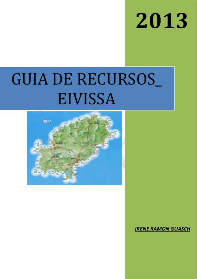 2013 GUIA DE RECURSOS_ EIVISSA  IRENE RAMON GUASCH Pàgina