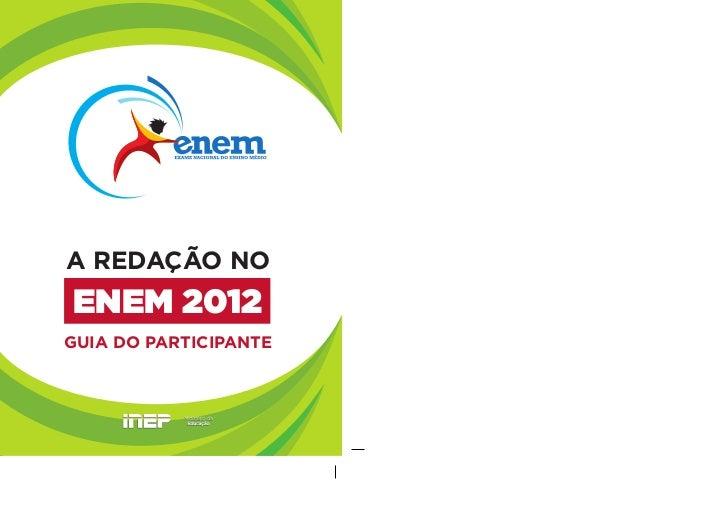Guia redação enem 2012