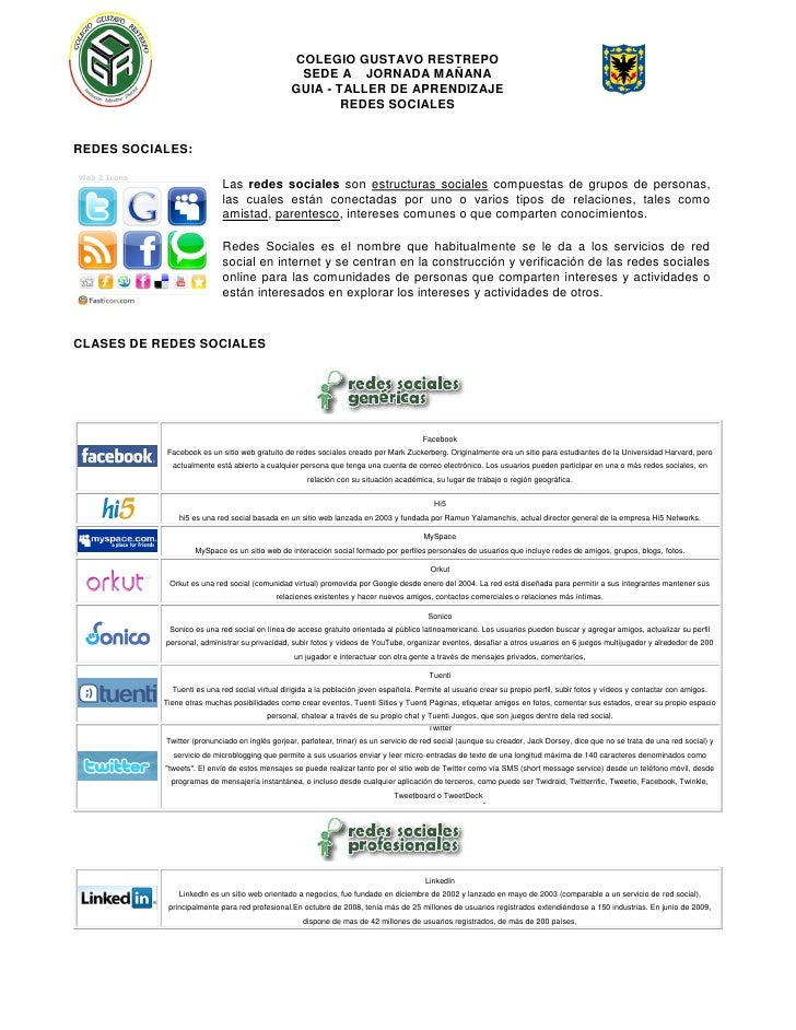 Guia redes sociales