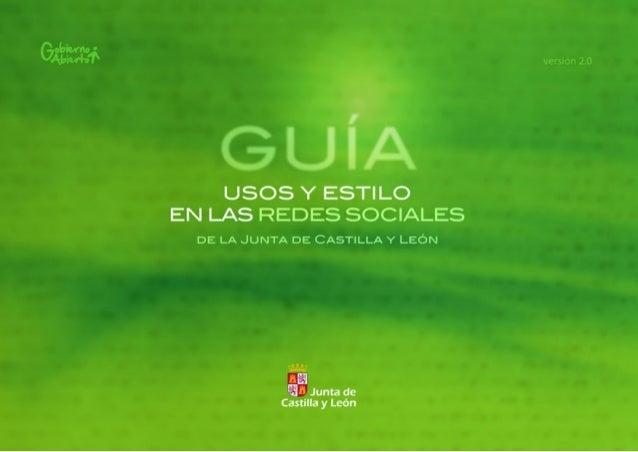 Guia de uso y estilo en las redes sociales de la Junta de Castilla y León v2