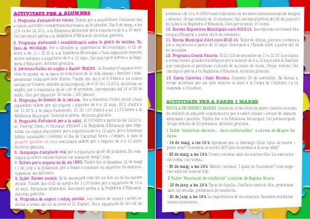 Guia resum actividades educativas 2013 ajuntament vinaròs