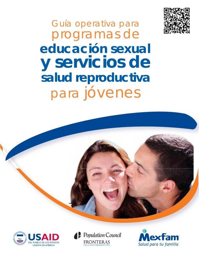 Guía operativa para para jóvenes educación sexual y servicios de programas de salud reproductiva