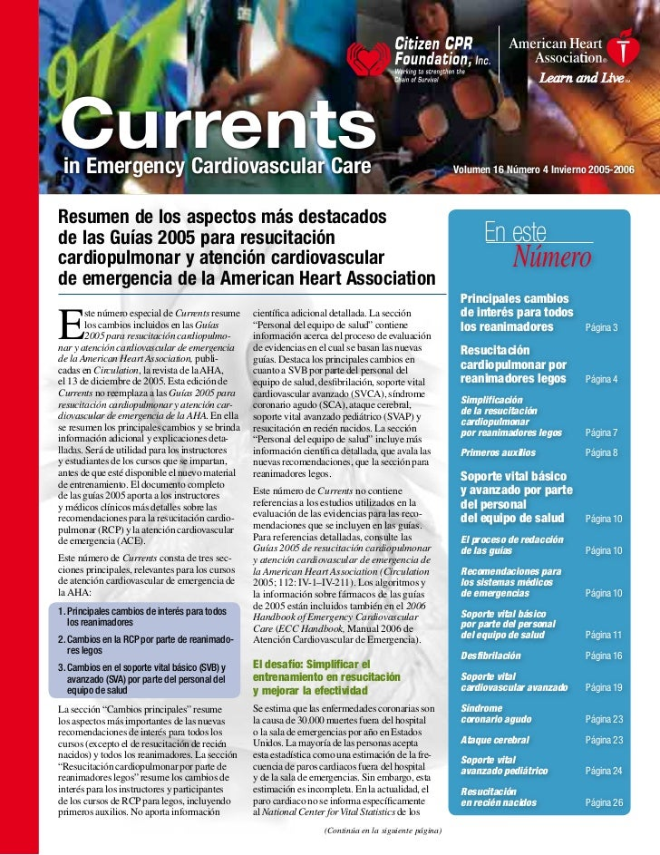 Currents  in Emergency Cardiovascular Care                                                                          Volume...