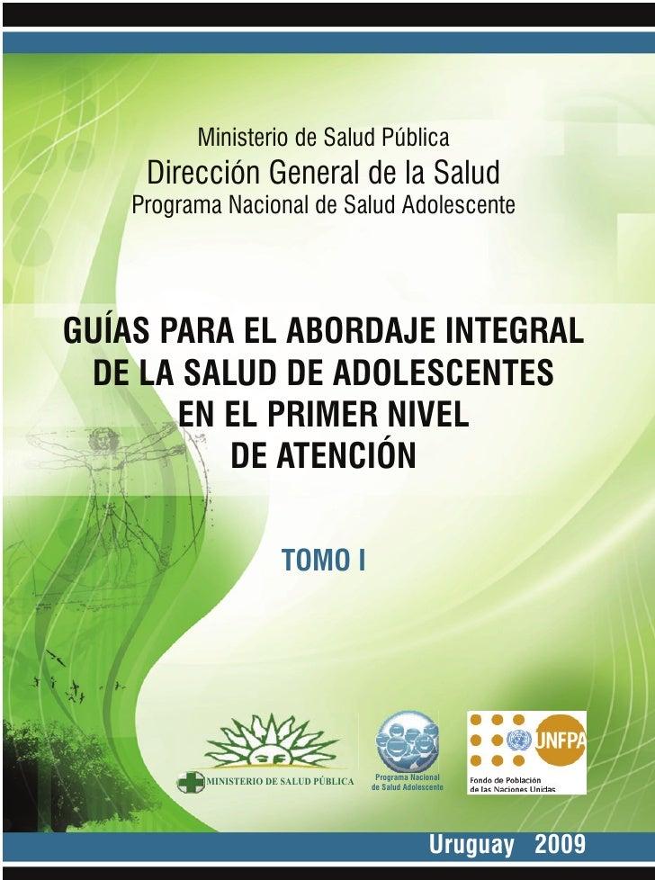 Programa Nacional de Salud Adolescente               Ministerio de Salud Pública      Dirección General de la Salud     Pr...