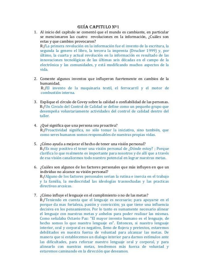 Guía Capitulo Nº11. Al inicio del capítulo se comentó que el mundo es cambiante, en particular   se mencionaron las cuatro...