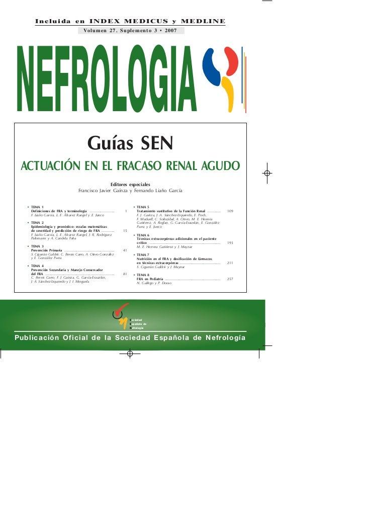 Incluida en INDEX MEDICUS y MEDLINE                                                       Volumen 27. Suplemento 3 • 2007N...