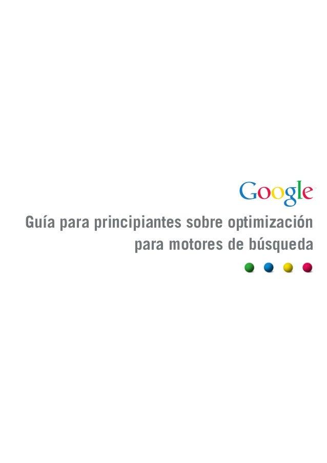 Guía SEO para principiantes | Google