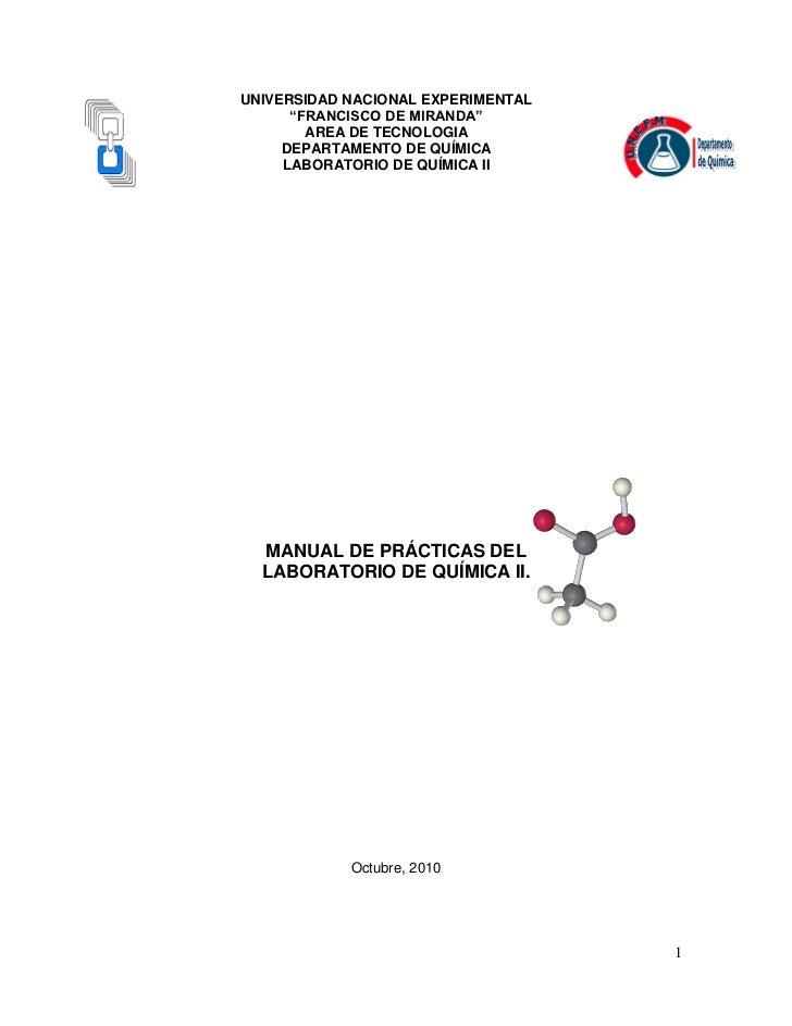 Guias laboratorio quimica ii i 2011