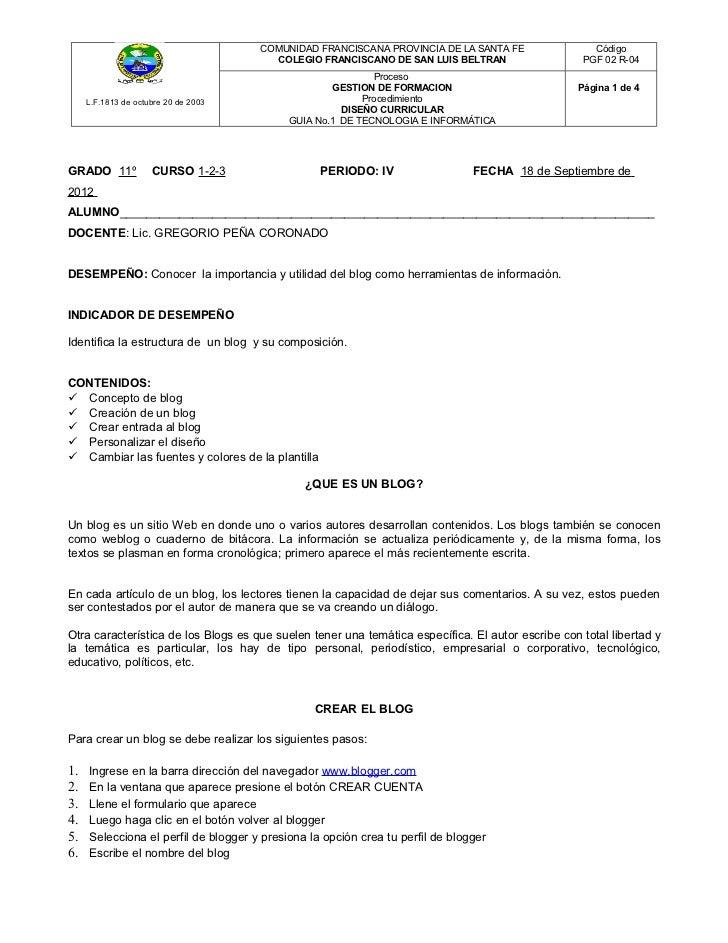 COMUNIDAD FRANCISCANA PROVINCIA DE LA SANTA FE                 Código                                        COLEGIO FRANC...