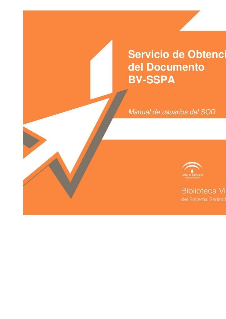 Guia para el Servicio de Obtención de Documentos (profesionales del Sistema Sanitario Público de Andalucía)s_sspa