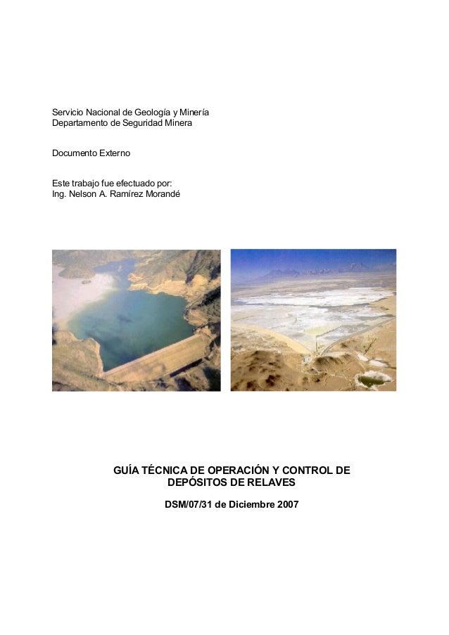 Servicio Nacional de Geología y MineríaDepartamento de Seguridad MineraDocumento ExternoEste trabajo fue efectuado por:Ing...