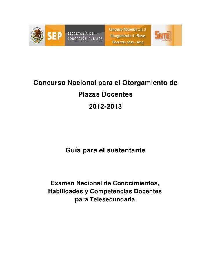 Sedes para concurso nacional para el otorgamiento de for Concurso de plazas docentes 2016