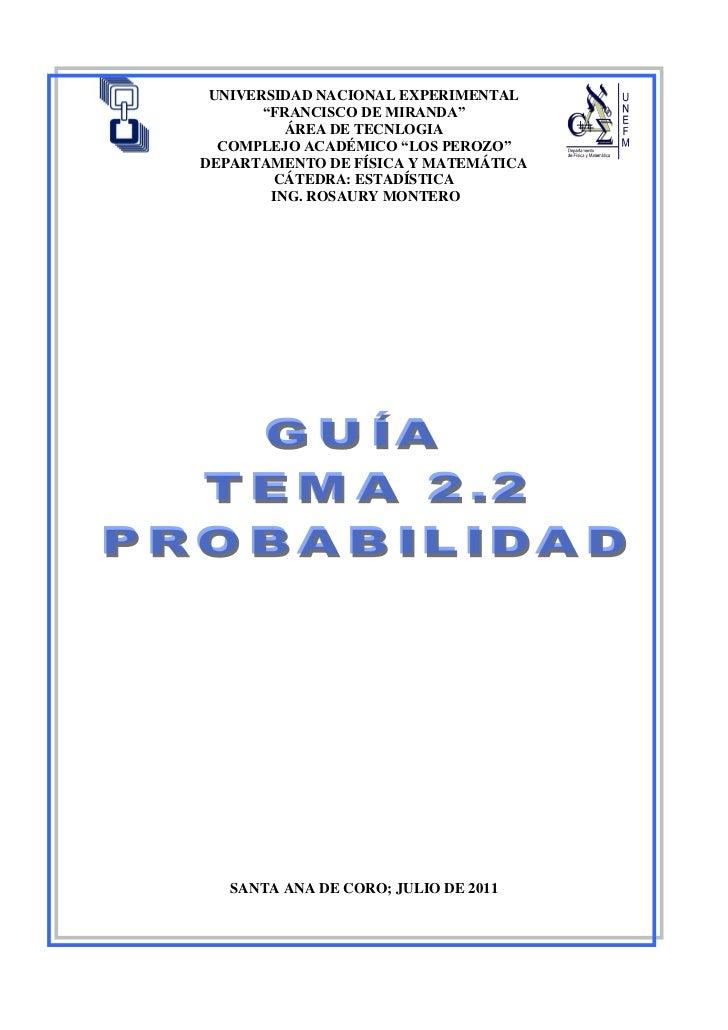 Guia  teoria  de probabilidad