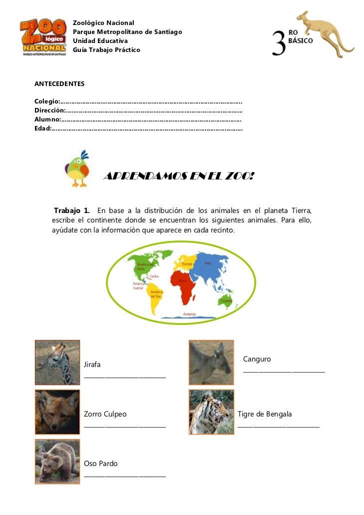 Zoológico Nacional                    Parque Metropolitano de Santiago                    Unidad Educativa                ...