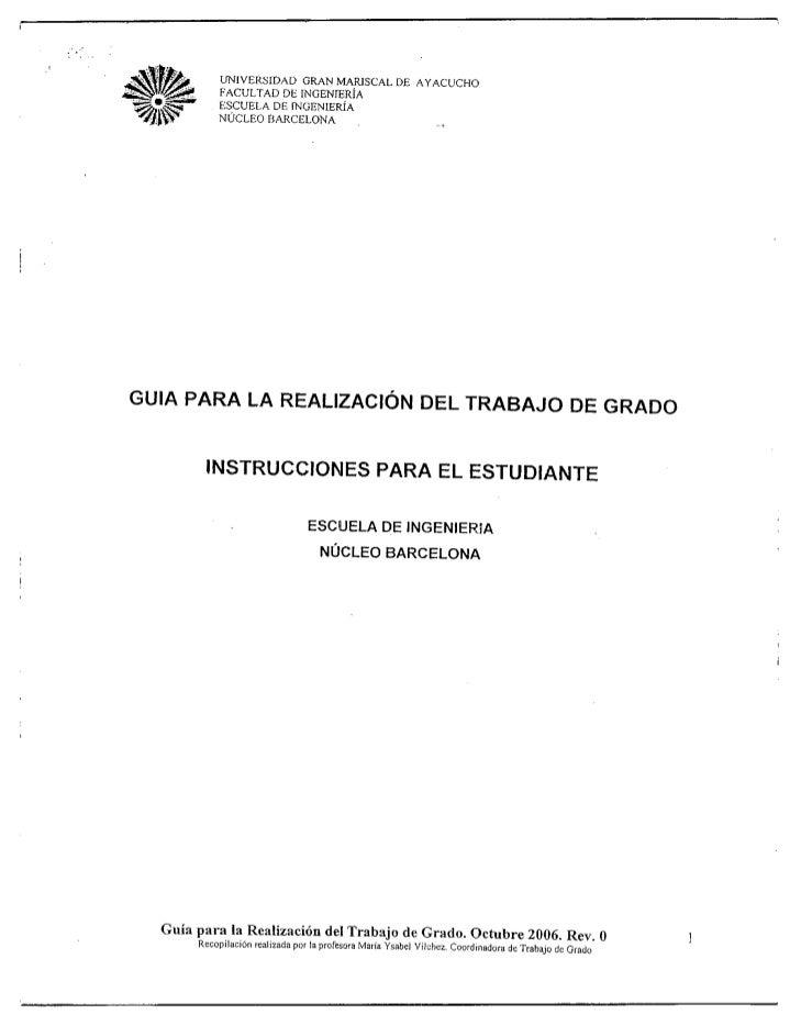 Guia Trabajos de Grado UGMA 2012
