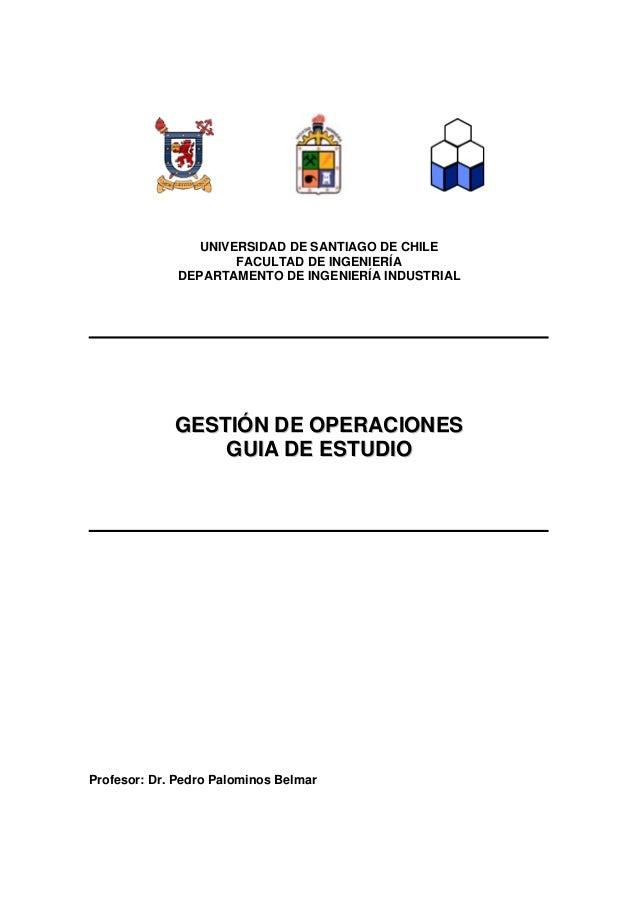 Gu A Gesti N De Operaciones