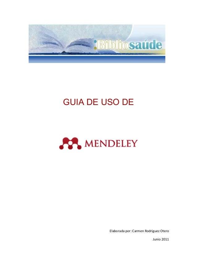 Guia uso mendeley