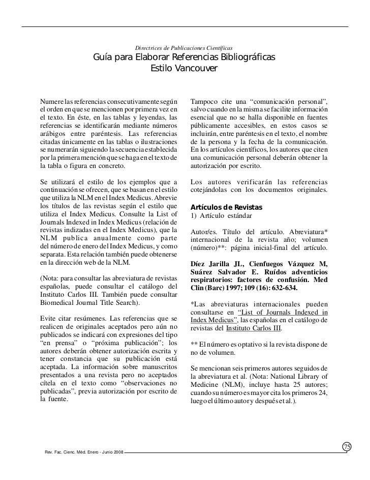 Directrices de Publicaciones Científicas                         Guía para Elaborar Referencias Bibliográficas            ...