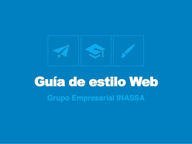 Guía de estilo Web Grupo Empresarial INASSA