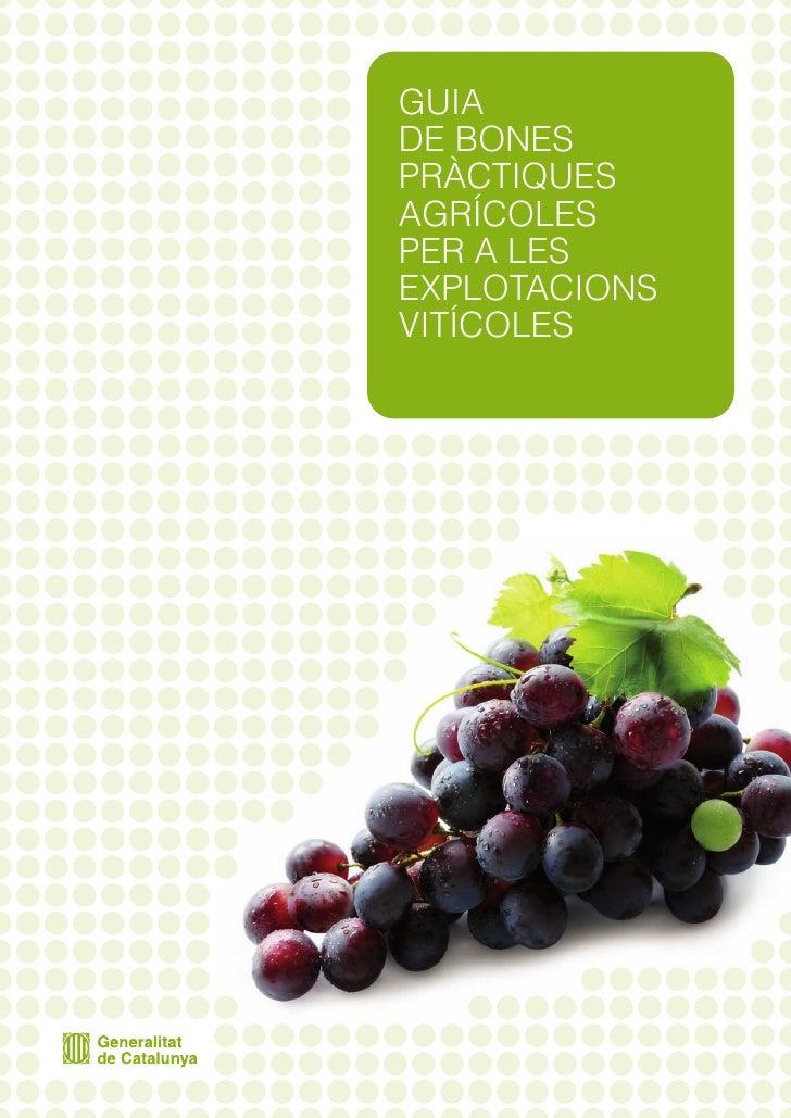 Guia de bones pràctiques agrícoles per a les explotacions vitícoles