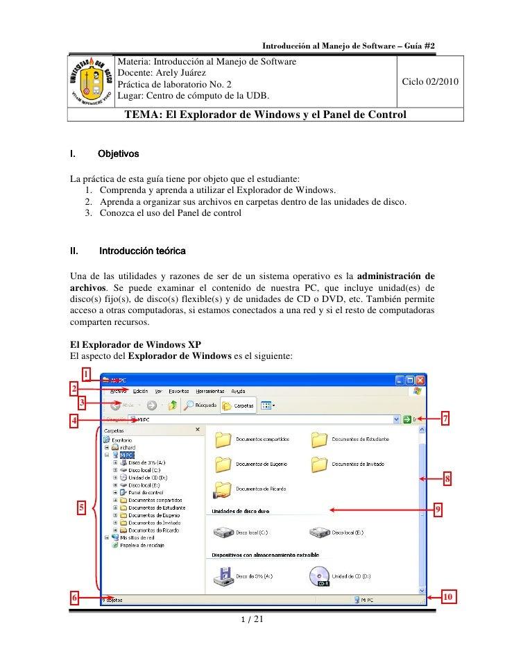Introducción al Manejo de Software – Guía #2                   Materia: Introducción al Manejo de Software                ...