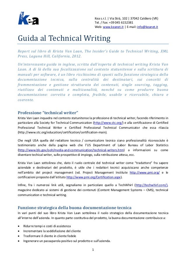Guida al Technical Writing