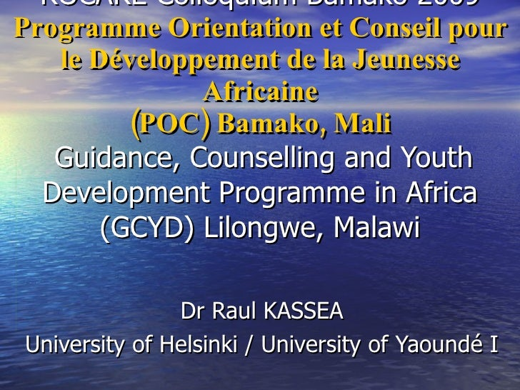 Guidance, Counselling And Youth 2009