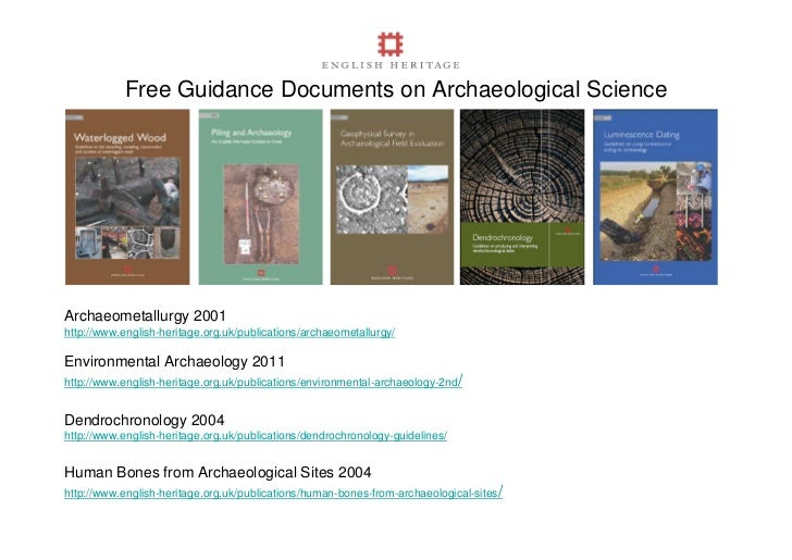 Free Guidance Documents on Archaeological ScienceArchaeometallurgy 2001http://www.english-heritage.org.uk/publications/arc...