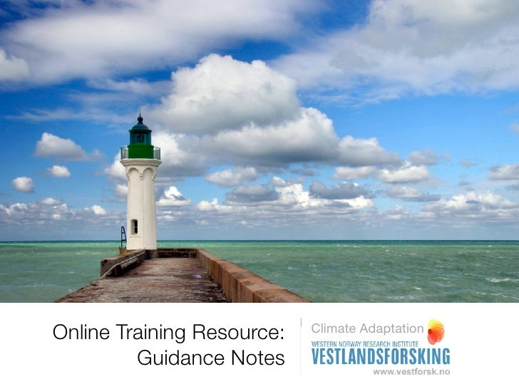 Guidance notes  - Online training resource for climate adaptation