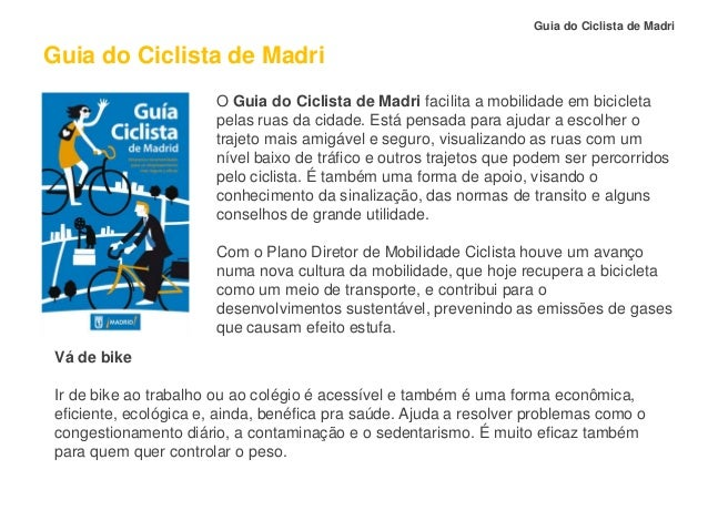 Guia do Ciclista de Madri