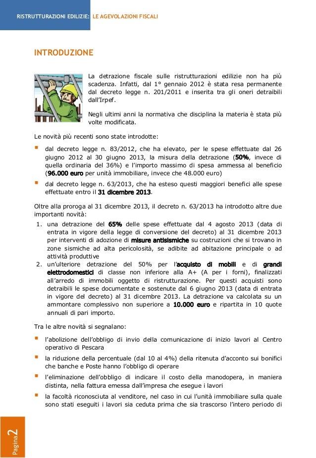 Agevolazioni fiscali per le ristrutturazioni edilizie 2013 for Bonifico ristrutturazione