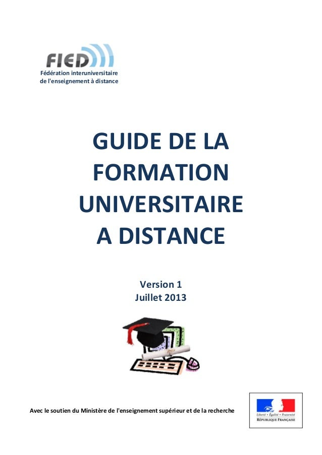 GUIDE DE LA FORMATION UNIVERSITAIRE A DISTANCE