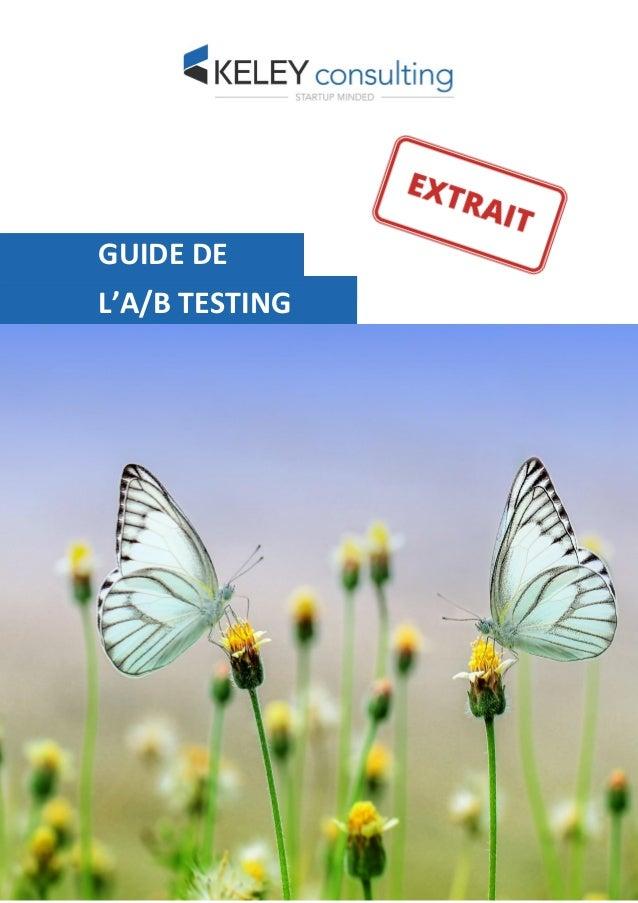 GUIDE DE L'A/B TESTING