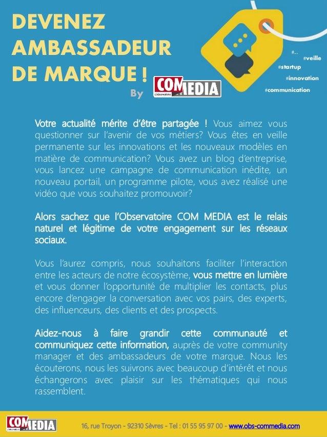 #veille  #innovation  #communication  #startup  #...  DEVENEZ AMBASSADEUR DE MARQUE  By  Votreactualitémérited'êtrepartagé...