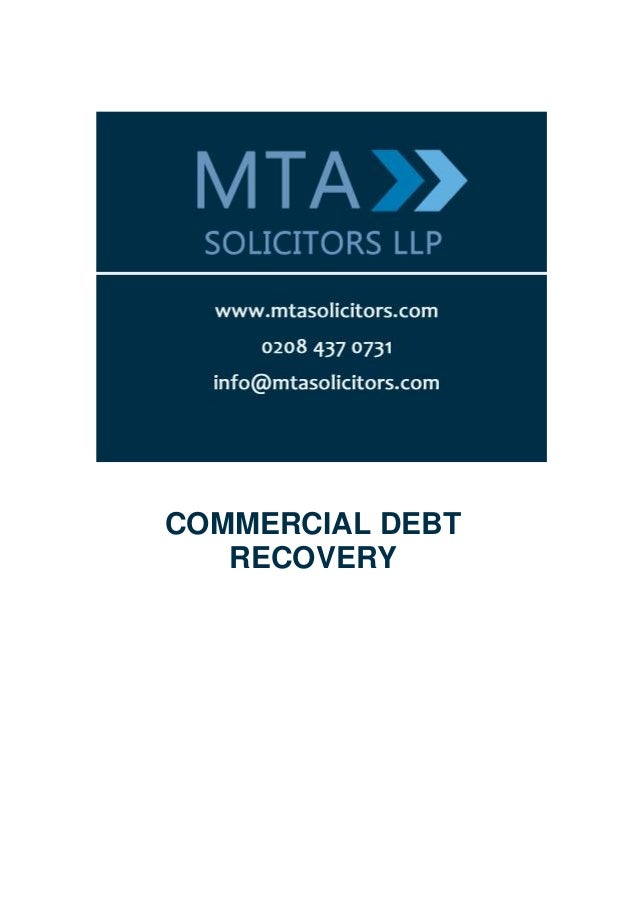 Guide to Commercial Debt Recovery | MTA Solicitors LLP