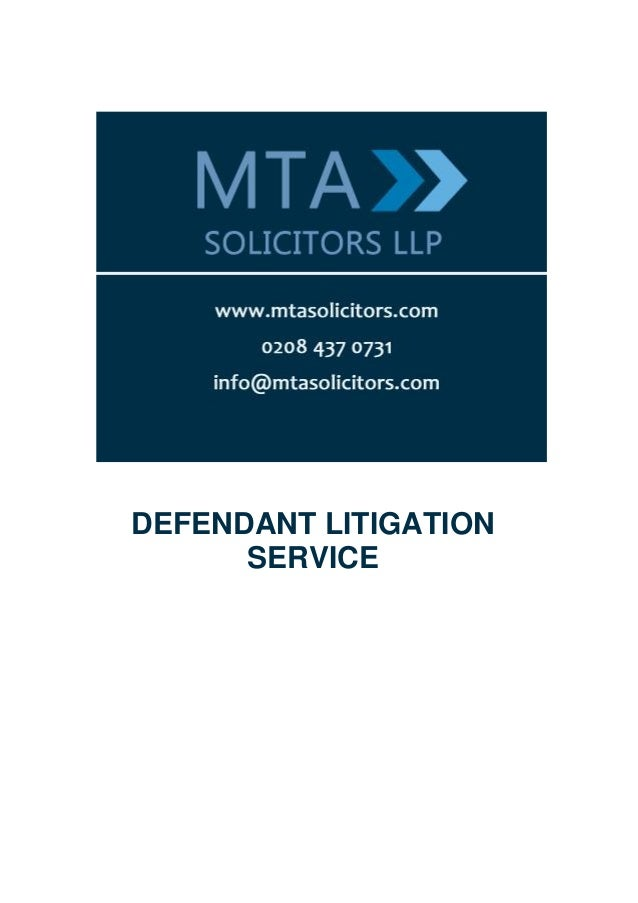 DEFENDANT LITIGATION      SERVICE