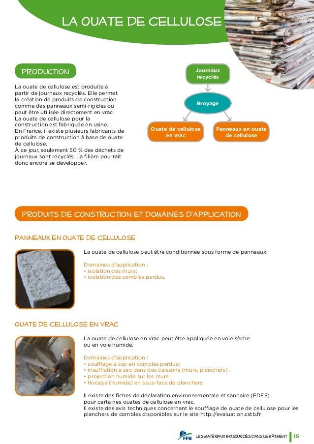Guide des mat riaux biosourc s ffb - Materiaux net ...
