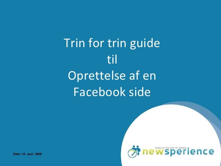 Guide   Opret En Facebook Side