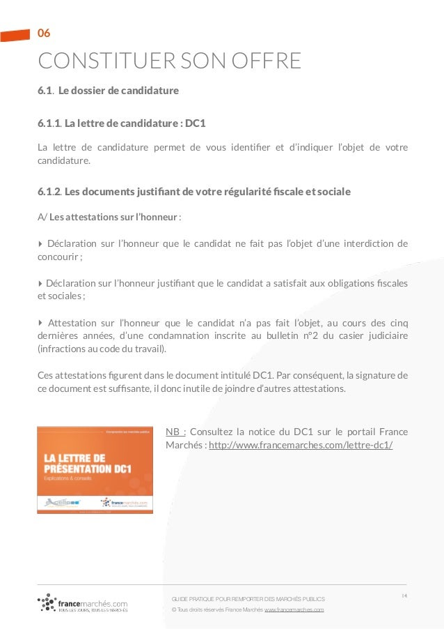 modele lettre negociation marche document
