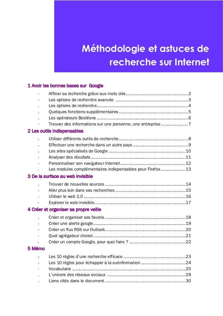 Méthodologie et astuces de recherche sur Internet par Victorine Porte