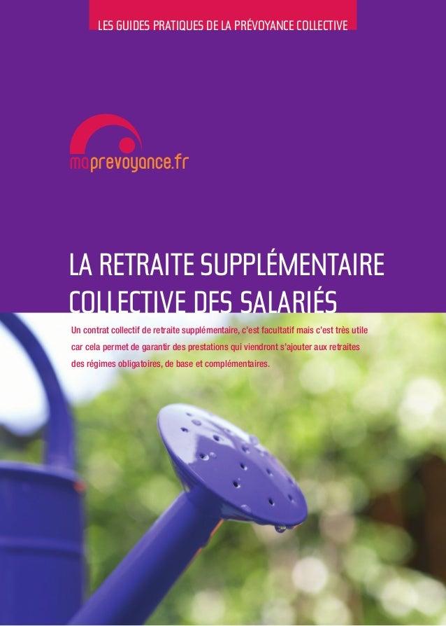 """Guide pratique : """"La retraite supplémentaire collective des salariés"""""""