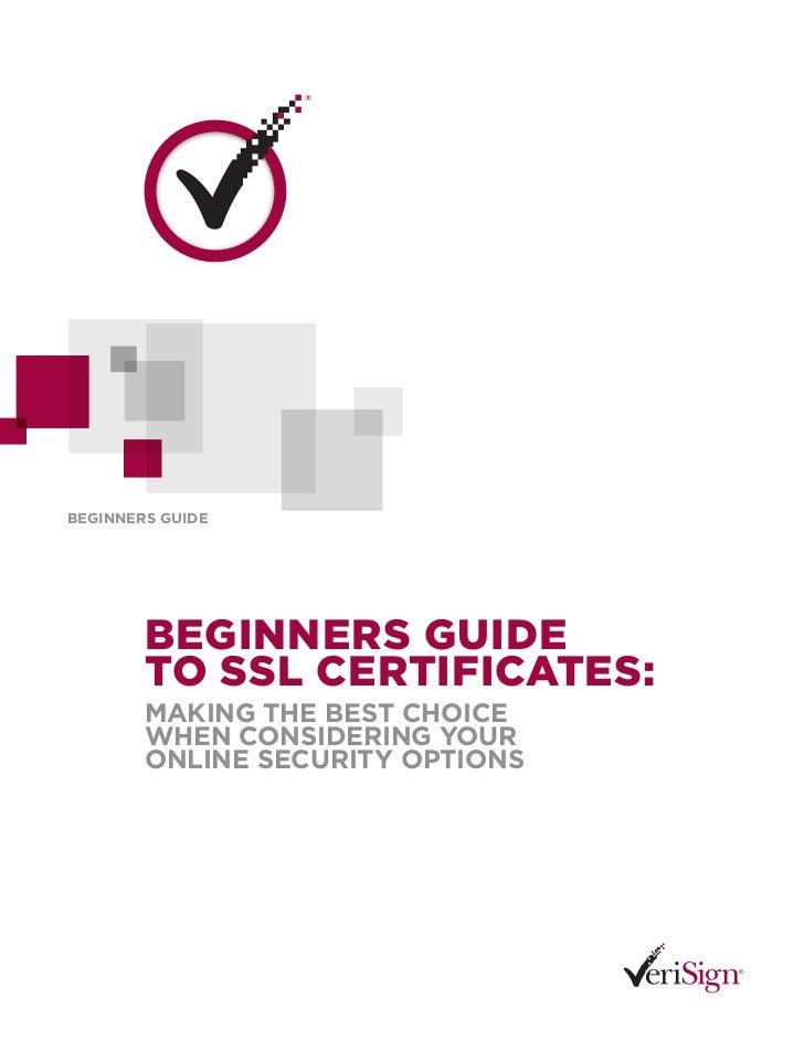 SSL Beginner's Guide