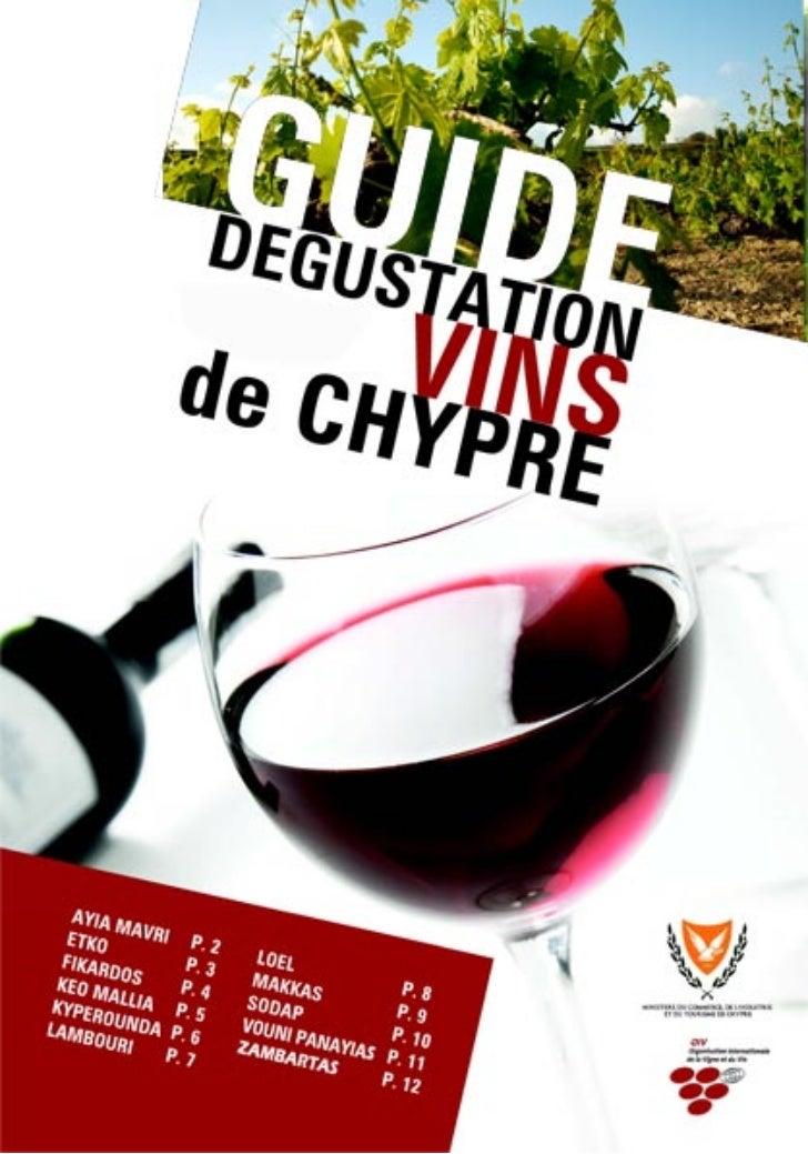 Guide Degustation Vins de Chypre