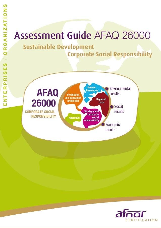 Assessment guide AFAQ 26000