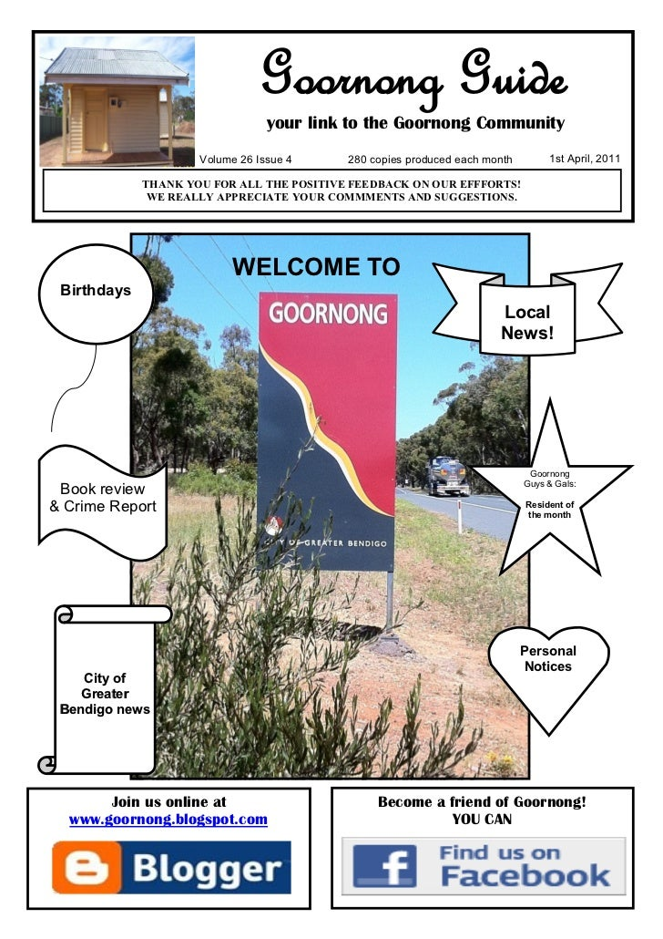Goornong Guide                                 your link to the Goornong Community                     Volume 26 Issue 4  ...