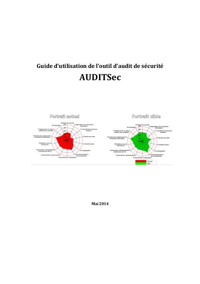 Guide d'utilisation de l'outil d'audit de sécurité AUDITSec Mai 2014
