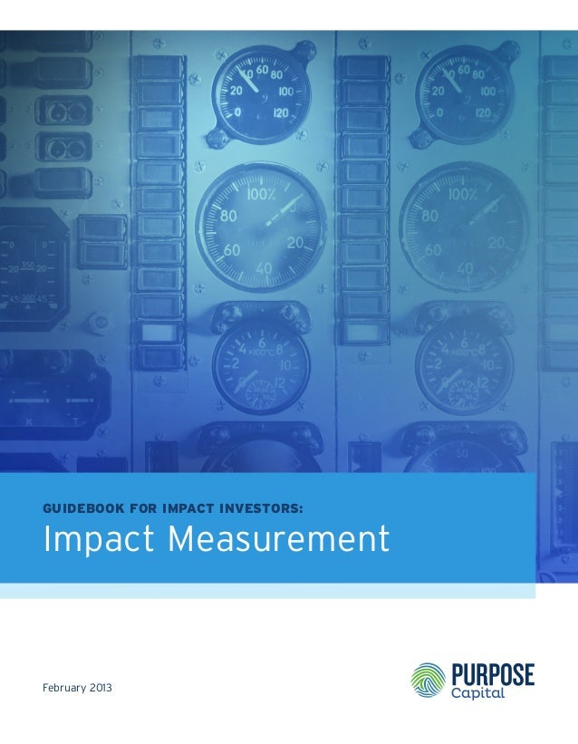 Guidebook for Impact Investors: Impact Measurement